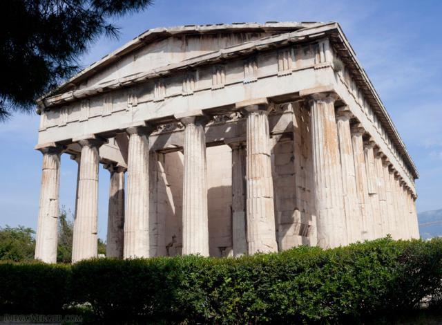 Northwest façade of the Temple of Hephaestus - Athens, Greece
