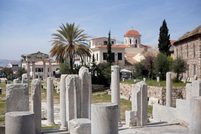 Columns of the Roman Forum or Roman Agora of Athens - Athens, Greece