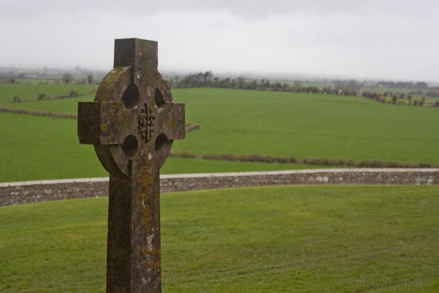 Celtic cross in the Rock of Cashel