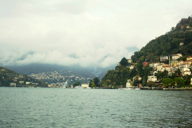 Como from the shore and lake