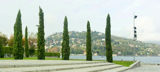 Cypresses surrounding the Monument to the Fallen - Como, Italy