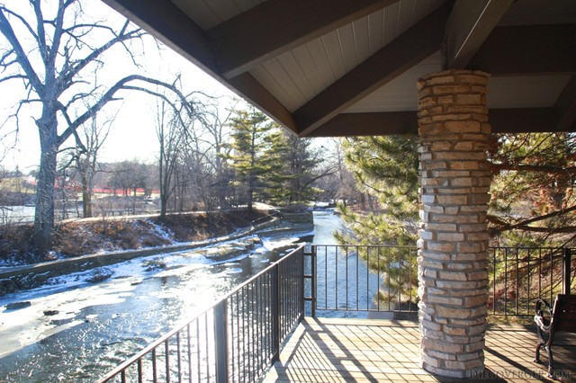 View of DuPage from one of the terraces in Riverwalk Park - Naperville, United States