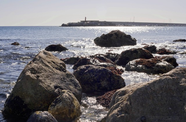 Breakwater rocks in Fuengirola - Fuengirola, Spain