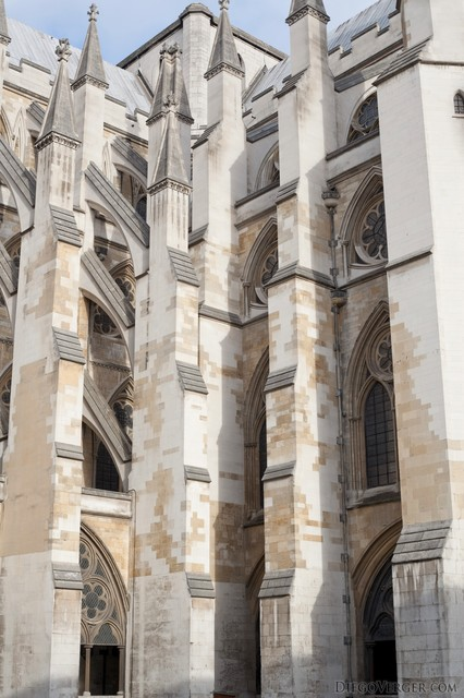 Flying buttresses of Westminster Abbey - London, England