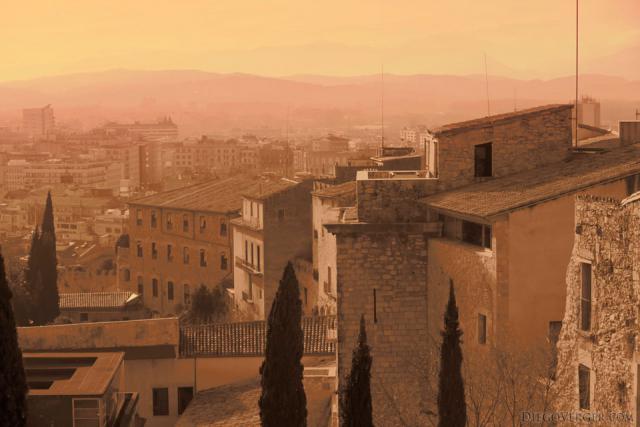 La ciudad de Girona en Infrarrojo - Girona, España