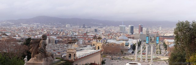 Panoramic picture of Barcelona