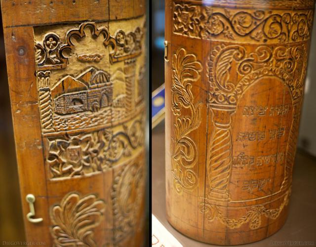 Sefer Torah wooden case - Girona, Spain