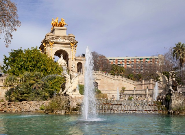 Monumental Waterfall in Ciutadella Park - Barcelona, Spain