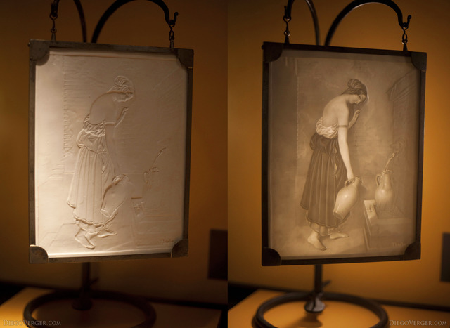 Lithophane of Thisbe from the 19th century - Girona, Spain