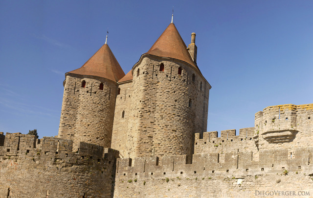 The towers of Narbonne Gate - Carcassonne, France