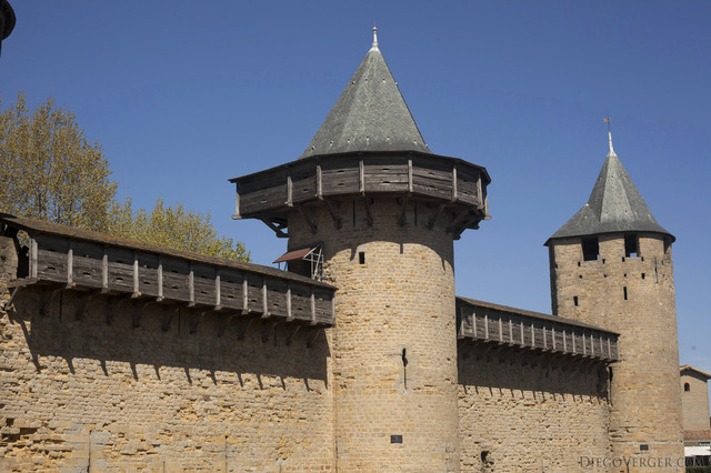 Towers and curtain walls of the Count's Castle - Carcassonne, France