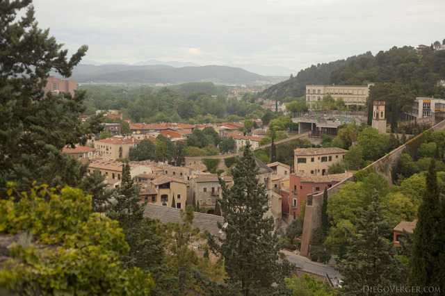 The city of Girona to the north of the Galligants river - Girona, Spain