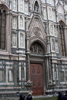Porta laterale della Cattedrale di Santa Maria del Fiore - Firenze, Italia