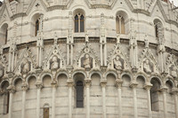 Ornamental details of the Baptistery of Pisa - Pisa, Italy