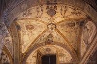 Volta a crociera quadripartita nel Palazzo Vecchio - Firenze, Italia