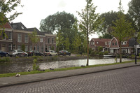 Oudegracht and homes in the center of Weesp - Weesp, Netherlands