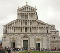 Façade of the Cathedral of Saint Mary of the Assumption - Pisa, Italy