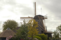The Vriendschap windmill on a cloudy day - Weesp, Netherlands