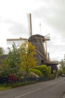 The Vriendschap windmill seen from the Utrechtseweg street - Weesp, Netherlands