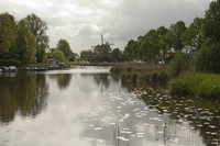 Another scenery of Weesp with the Vriendschap windmill - Weesp, Netherlands