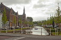 The Oudegracht canal in the center of Weesp - Weesp, Netherlands