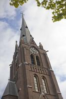 Bell tower and spire of Sint-Laurentiuskerk - Weesp, Netherlands