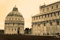 Il battistero accanto alla Cattedrale di Pisa - Pisa, Italia