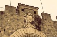 Detail of Porta Nuova in the Pisa wall - Pisa, Italy