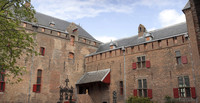 Inner courtyard of Muiden Castle - Muiden, Netherlands