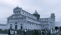 La Cattedrale di Pisa e la Torre di Pisa ad infrarossi - Pisa, Italia