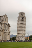 The Tower of Pisa and the south transept of the cathedral - Pisa, Italy