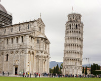The Tower of Pisa in Piazza dei Miracoli - Pisa, Italy