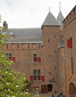 View of the inner courtyard of Muiderslot - Muiden, Netherlands