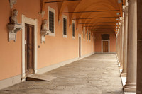 Courtyard gallery of the Archiepiscopal Palace - Pisa, Italy