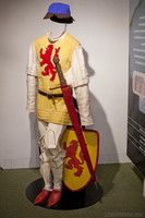 Reproduction of medieval Dutch soldier uniform - Muiden, Netherlands