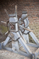 Lifting mechanism of the castle's drawbridge - Muiden, Netherlands