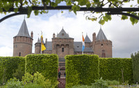 The Castle of Muiden as seen from its gardens - Muiden, Netherlands