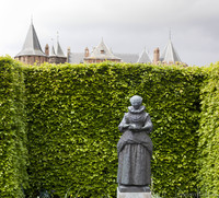 Statue of Maria Tesselschade in the Muiderslot gardens - Muiden, Netherlands