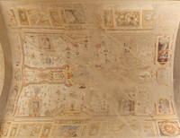 Panorama of the frescoes of the arch of Palazzo dell'Orologio - Pisa, Italy