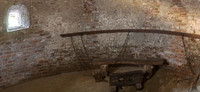 Panorama of the castle dungeon in the south tower - Muiden, Netherlands