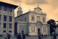 Chiesa di Santo Stefano dei Cavalieri ad infrarossi - Pisa, Italia