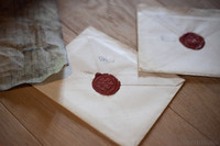 Detail of wax sealed envelopes - Muiden, Netherlands