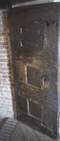 Reinforced door from 1784 in one of the main rooms of the castle - Muiden, Netherlands