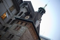 The Molard Tower in Place du Molard - Geneva, Switzerland
