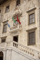 Detail of the façade of Scuola Normale Superiore of Pisa - Pisa, Italy