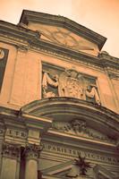 Detail of the façade of Santo Stefano dei Cavalieri - Pisa, Italy