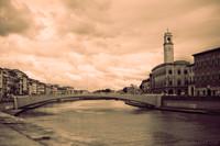 Ponte di Mezzo - Pisa, Italia