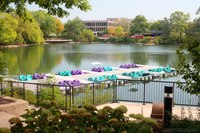 Pedal boats in Quarry Lake - Naperville, United States