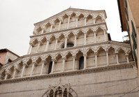 Façade of the church of San Michele in Borgo of Pisa - Pisa, Italy