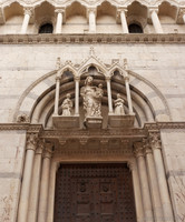Central portal of the Church of San Michele in Borgo - Pisa, Italy